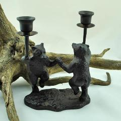 Dancing Bears Candle Holder