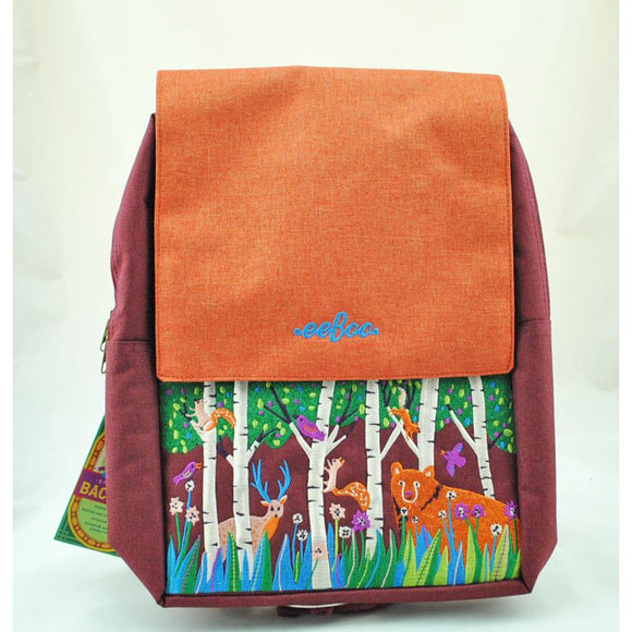 Bear in the Woods Embroidered Backpack