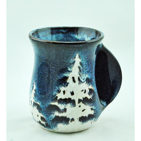 Blue Forest Hand Warmer Mug