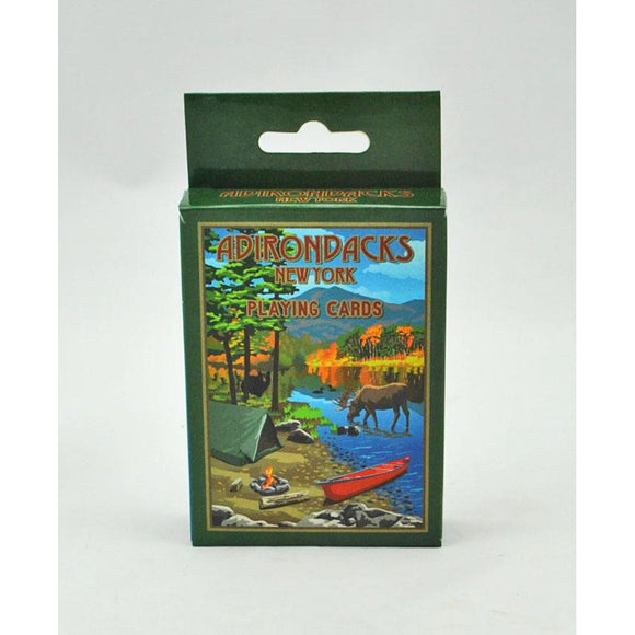 Adirondack Camp Scene Playing Cards