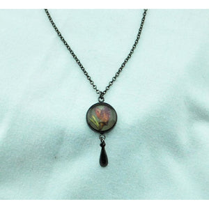 Round Boronia with Drop Necklace