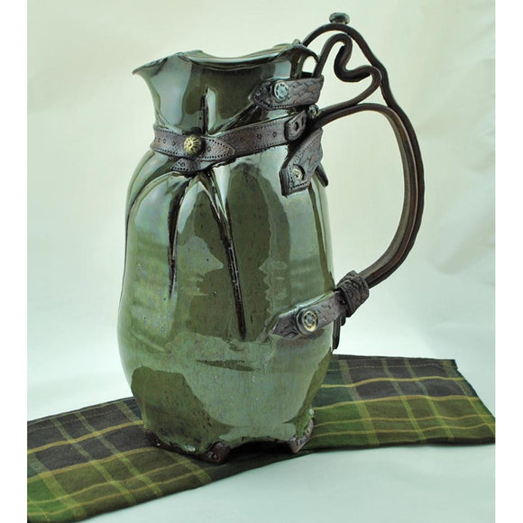 Hand Crafted Green Pitcher