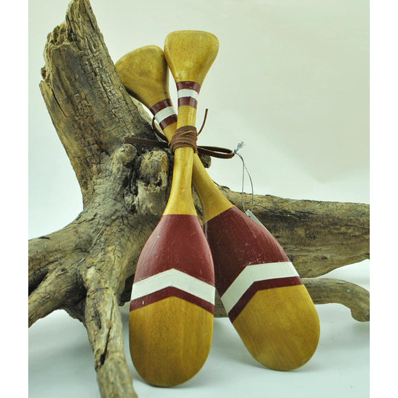 Double Paddle Wooden Ornament