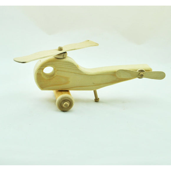Hand Crafted Wooden Helicopter