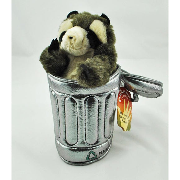 Raccoon in Trash Can Hand Puppet (Ages 3+)