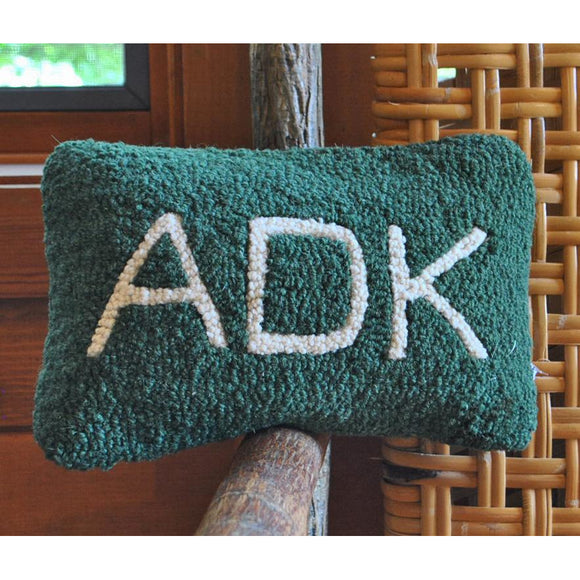 ADK Hooked Wool Pillow