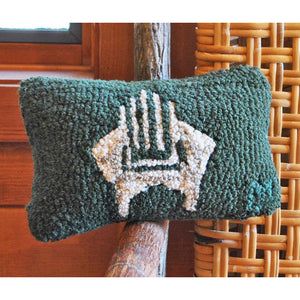 Adirondack Chair Hooked Wool Pillow