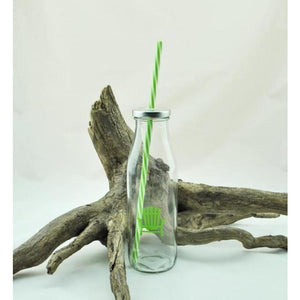 Glass Sipper with Straw