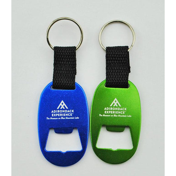 Adirondack Experience Logo Bottle Opener Keychain (2 Colors Available)