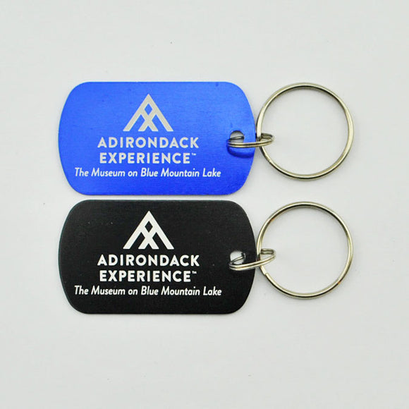 Adirondack Experience Logo Dog Tag Keychain (2 Colors Available)