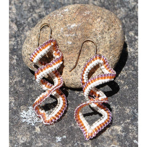 Mohawk Beaded Spiral Earrings