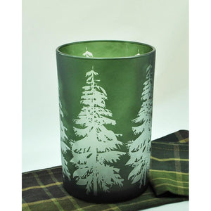 Tree Silhouette Hurricane Candle Holder
