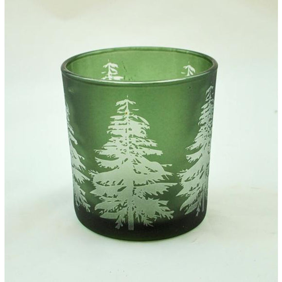 Tree Silhouette Votive Holder