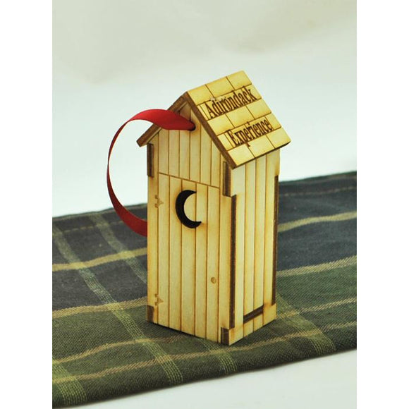 Exclusive Wooden Outhouse Ornament