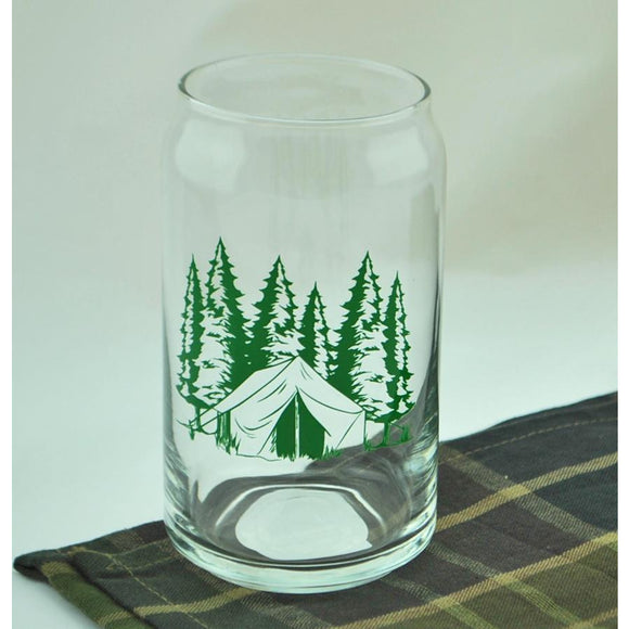 Camping Theme Pint Glass