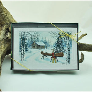 Christmas Canoe Boxed Set of Cards