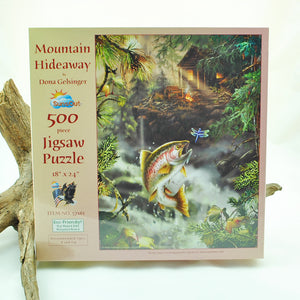 Mountain Hideaway 500 Piece Puzzle