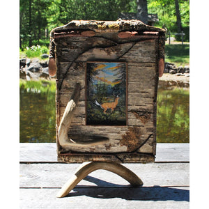 Birch Frame with Deer Antler Stand