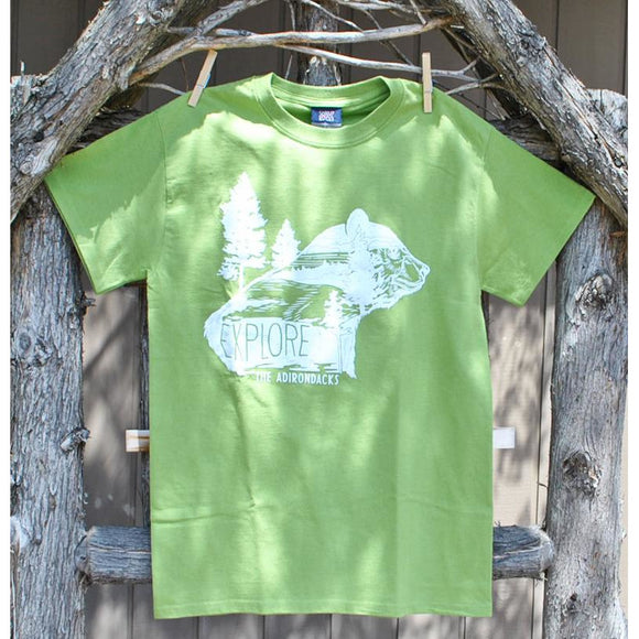 Explore the Adirondacks Bear Outline Tee (2 Colors Available)