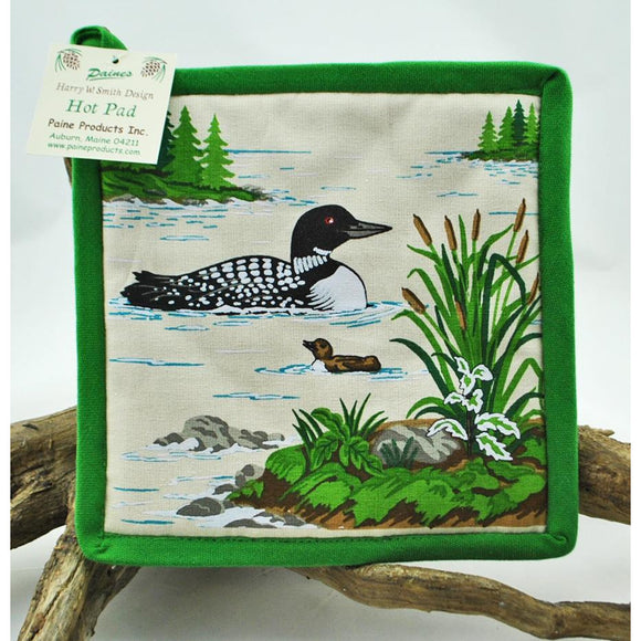 Loon with Chick Pot Holder