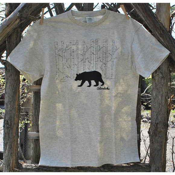 Bear in Birch Trees Tee