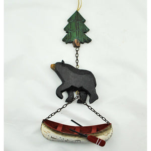 Tree, Bear, Canoe Hanging Swag