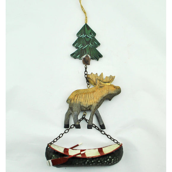 Tree, Moose, Canoe Hanging Swag