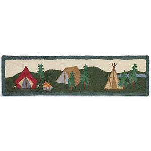Camp Hooked Wool Hearth Rug