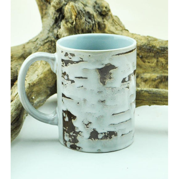 Ceramic Birch Bark Mug