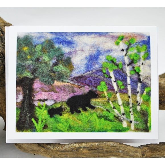Mama Bear and Cub Single Note Card