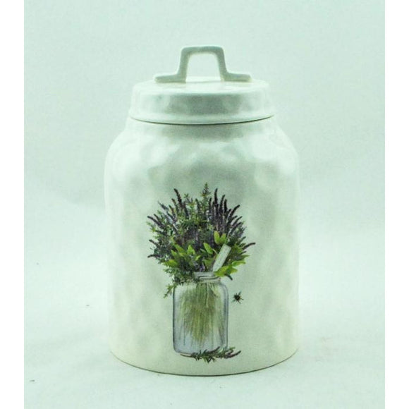 Canister with Lavender Design