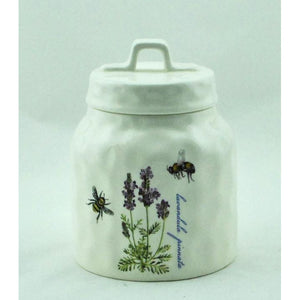 Small Canister with Lavender Design