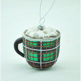 Glass Coco Mug Ornament (Available in 2 Colors)