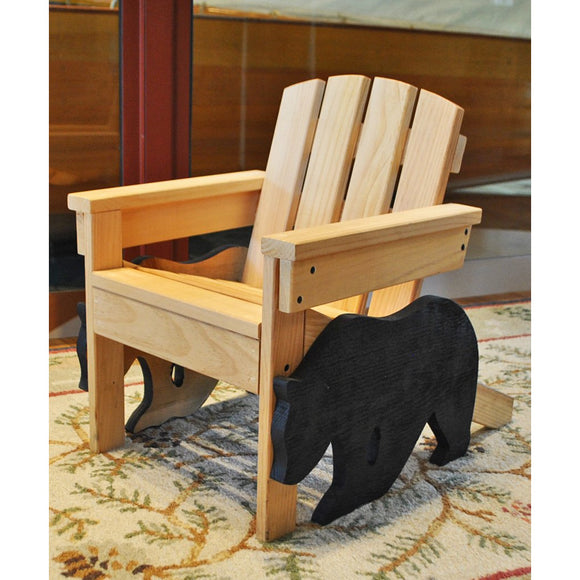 Child Adirondack Chair with Bear (Available for Pick-Up Only)
