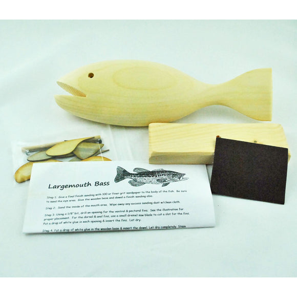 Build Your Own Wooden Fish Kit (2 Species Available)