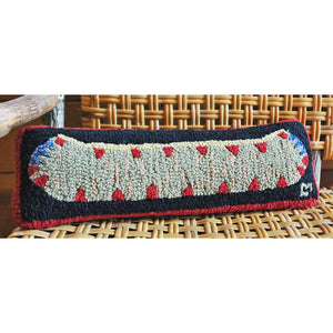 Canoe Hooked Wool Pillow