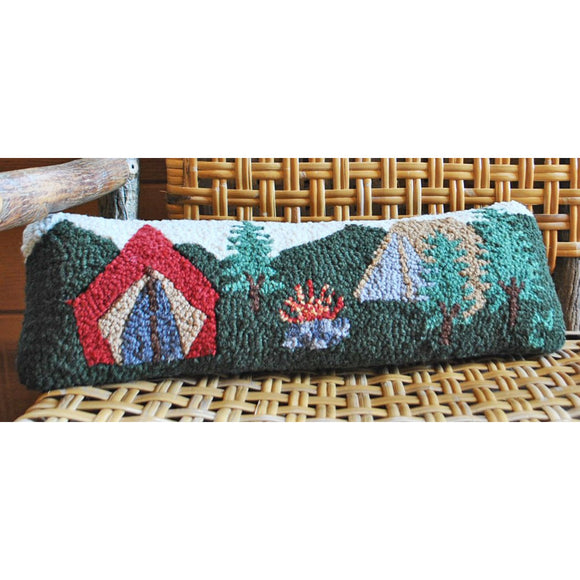Camping Tent Hooked Wool Pillow