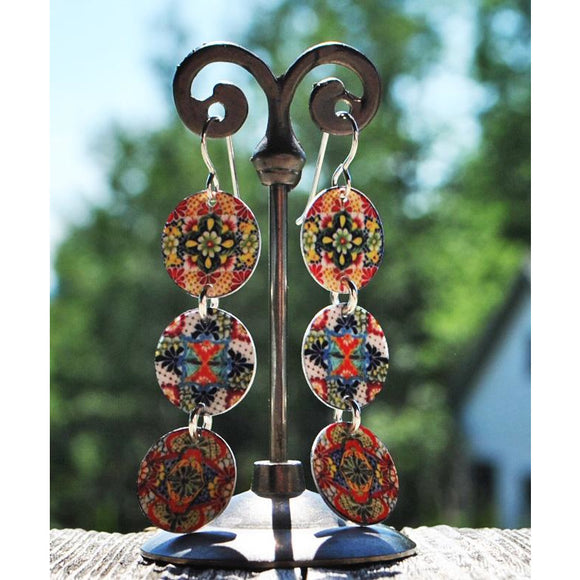 Romana 3 Disc Dangle Earrings