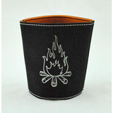 Leather Campfire Koozie