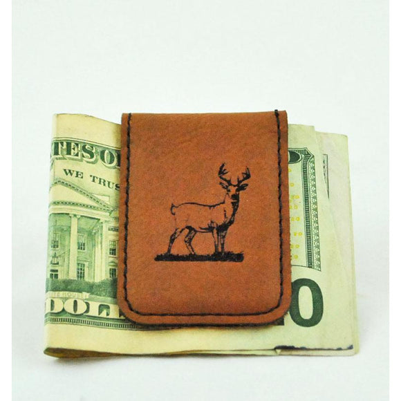 Leather Buck Money Clip