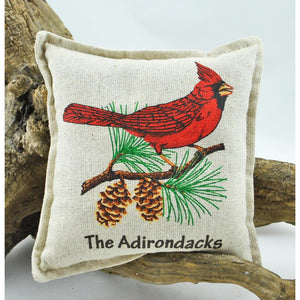 The Adirondacks Cardinal On Pine Bough Balsam Pillow
