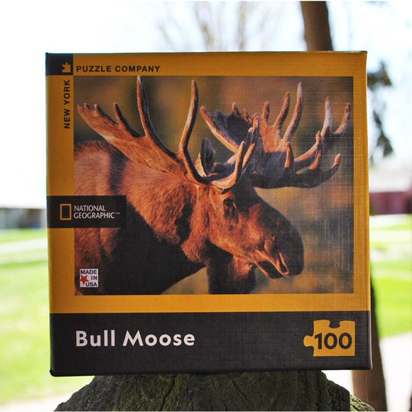 Bull Moose Mini 100 Piece Puzzle