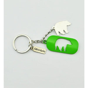 Adirondacks Bear Cutout Keychain