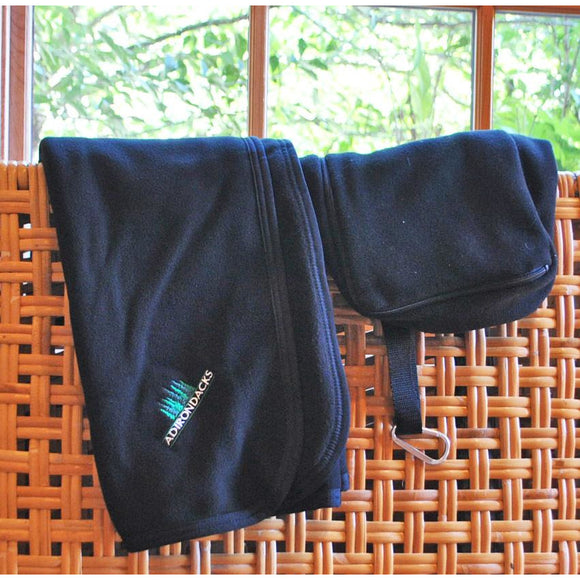 Embroidered Fleece Travel Blanket with Case (3 Colors Available)