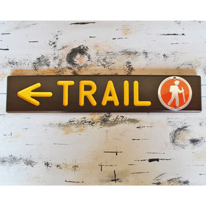 Wooden Trail Marker Sign
