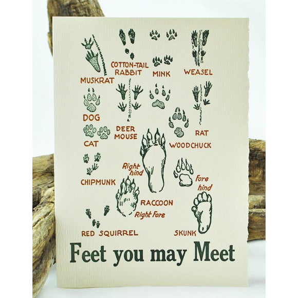 Feet You May Meet Single Note Card