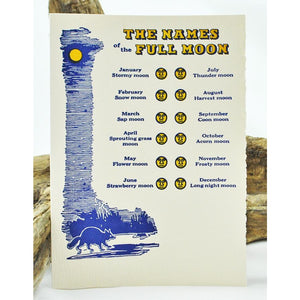 Names of Full Moons Single Note Card