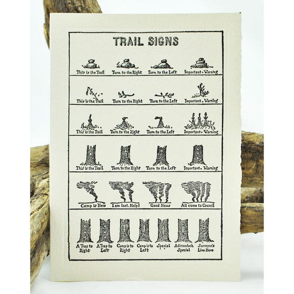 Trail Signs Single Note Card