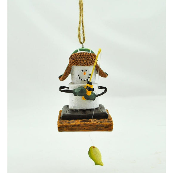 Ice Fisherman S'Mores Ornament