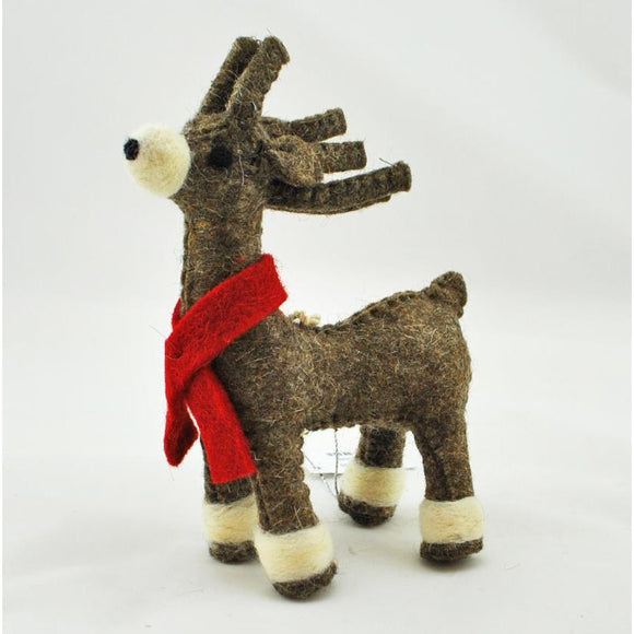 Wool Reindeer Ornament (2 Colors Available)